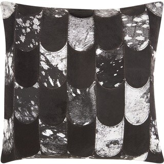 """Kathy Ireland Lady Fingers Black/Silver Throw Pillow (20"""" x 20"""")"""