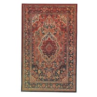 Copper Grove Sundarban Eco-friendly Traditional Distressed Floral Area Rug - 5' x 8'