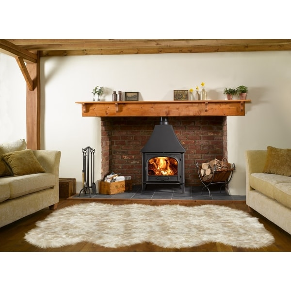 Shop Dynasty Natural 8 Pelt Luxury Long Wool Sheepskin