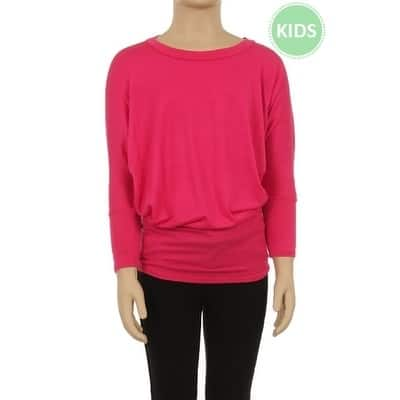 Children's Solid Color Dolman Top