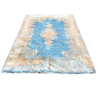 Handmade Herat Oriental Persian Hand-knotted Semi-Antique Kerman 1960's Wool Rug (10' x 17'3)