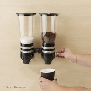 Mind Reader Metal Double Wall Mounted Coffee Dispenser