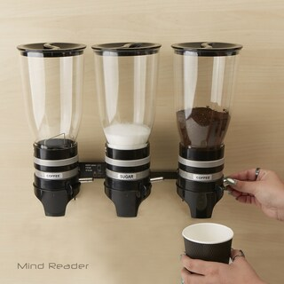 Mind Reader Metal Triple Wall Mounted Coffee Dispenser