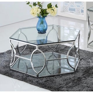 Link to Best Master Furniture Octagon Glass Coffee Table Similar Items in Living Room Furniture