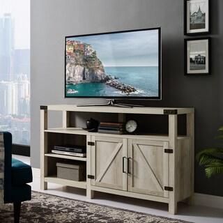 58-inch Barndoor Highboy TV Stand Media Console (Option: White Oak)