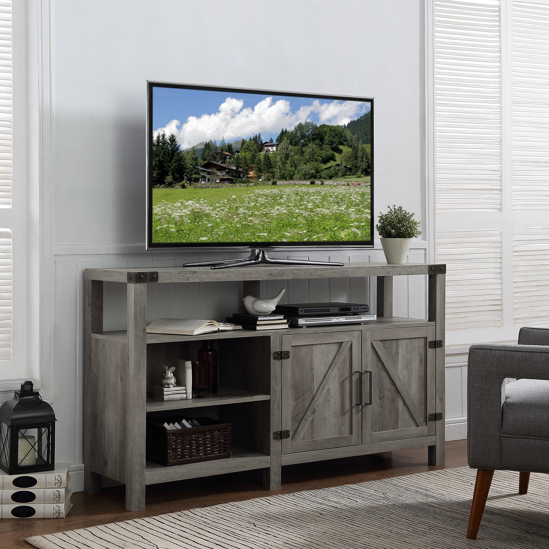 Gray Media Console Home Ideas