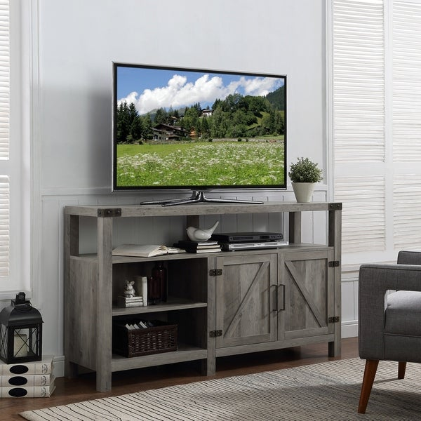 Shop The Gray Barn Kujawa 58 Quot Barndoor Tv Stand Console