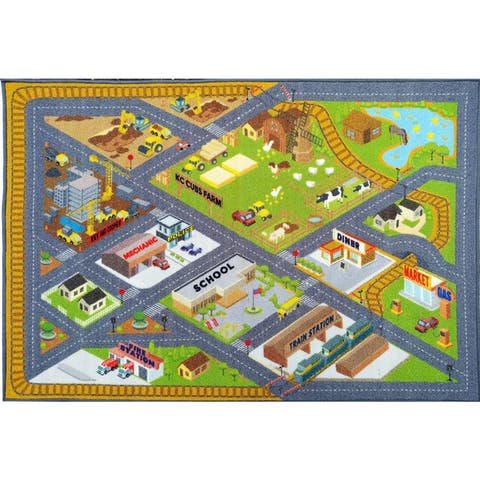 KC CUBS Road Map Educational Area Rug