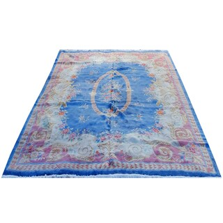 Handmade Herat Oriental Persian Hand-knotted Semi-Antique Kerman 1960's Wool Rug (11'9 x 14'3) - 11'9 x 14'3