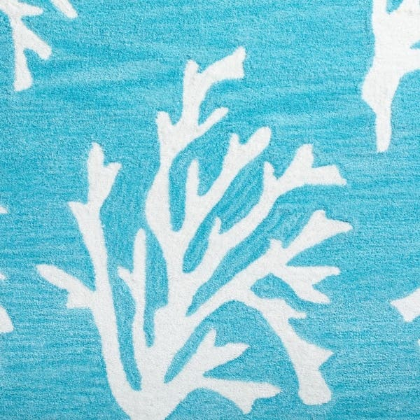 Shop Addison Rugs Beaches Coastal Coral Pacific Blue Ivory