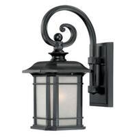 Acclaim Lighting Somerset Collection 1-Light Outdoor Matte Black Wall Light