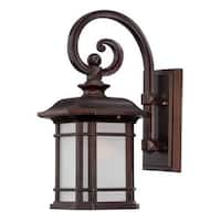 Acclaim Lighting Somerset Collection 1-Light Outdoor Architectural Bronze Wall Light