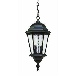Acclaim Lighting Telfair Collection Hanging Lantern 2-Light Outdoor Marbleized Mahogany Light Fixture