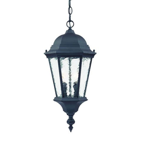 Acclaim Lighting Telfair Collection Hanging Lantern 2-Light Outdoor Matte Black Light Fixture