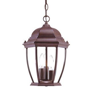 Acclaim Lighting Wexford Collection Hanging Lantern 3-Light Outdoor Burled Walnut Light Fixture