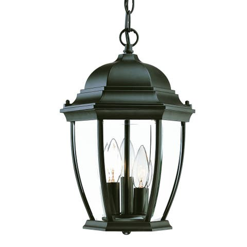 Acclaim Lighting Wexford Collection Hanging Lantern 3-Light Outdoor Matte Black Light Fixture
