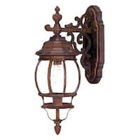 Acclaim Lighting Chateau Collection Wall-Mount 1-Light Outdoor Burled Walnut Light Fixture