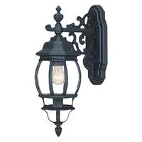 Acclaim Lighting Chateau Collection Wall-Mount 1-Light Outdoor Matte Black Light Fixture