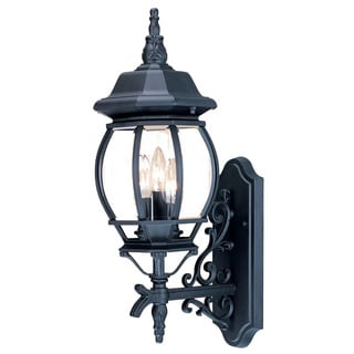 Acclaim Lighting Chateau Collection Wall-Mount 3-Light Outdoor Matte Black Light Fixture