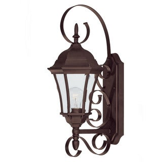 Acclaim Lighting New Orleans Collection 1-Light Outdoor Burled Walnut Wall Light