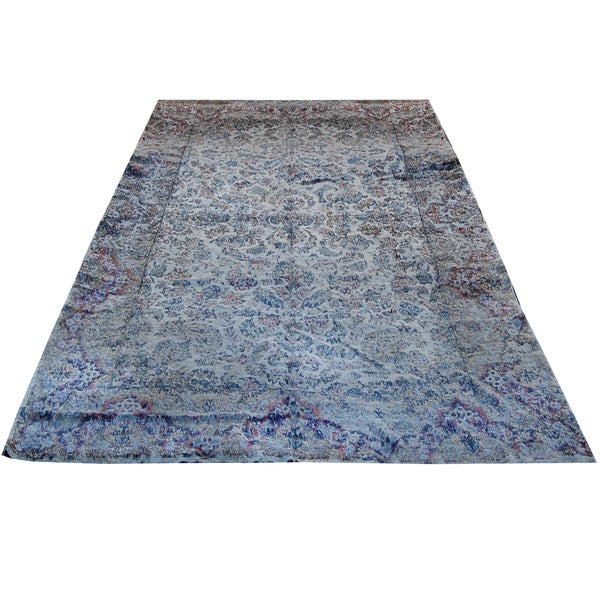 Handmade Herat Oriental Persian Hand-knotted Semi-Antique Kerman 1960's Wool Rug - 9'10 x 16'5 (Iran)