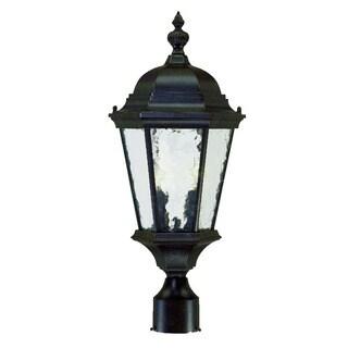 Acclaim Lighting Telfair Collection Post-Mount 2-Light Outdoor Marbleized Mahogany Light Fixture