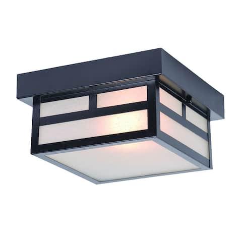 Acclaim Lighting Artisan Collection Ceiling-Mount 1-Light Outdoor Matte Black Light Fixture