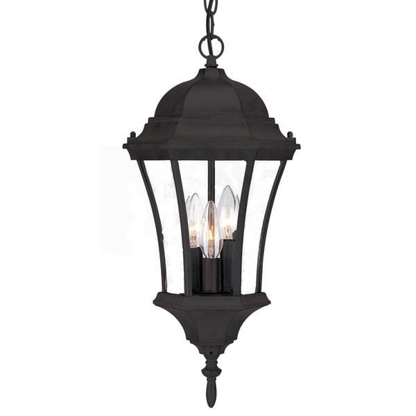 Acclaim Lighting Bryn Mawr Collection Hanging Lantern 3 Light Outdoor Matte Black Fixture