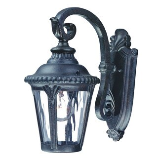 Acclaim Lighting Surrey Collection Wall-Mount 1-Light Outdoor Black Gold Light Fixture