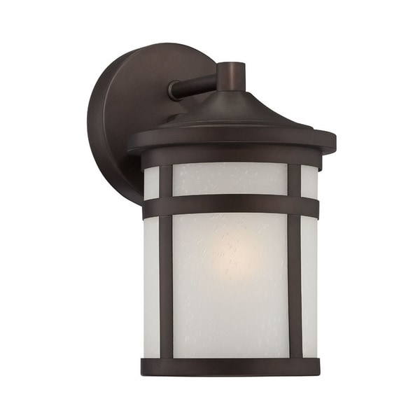 Acclaim Lighting Austin Collection Wall-Mount 1-Light Outdoor Architectural Bronze Light fixture
