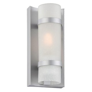 Acclaim Lighting Apollo Collection Wall-Mount 1-Light Outdoor Brushed Silver Light Fixture
