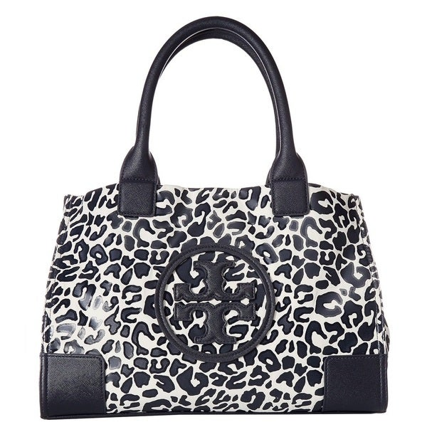 0771ffe6ffb3 Shop Tory Burch Mini Ella Clouded Leopard Printed Tote Bag - Free ...
