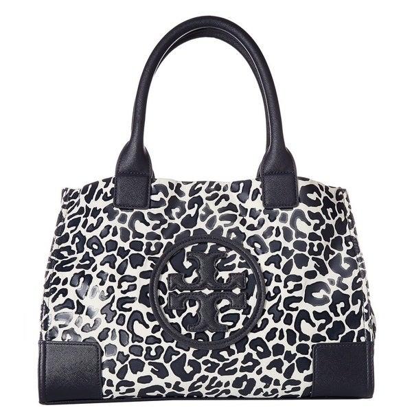 2cff2de638d3 Shop Tory Burch Mini Ella Clouded Leopard Printed Tote Bag - Free ...
