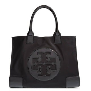 Tory Burch Ella Black Nylon Tote Bag