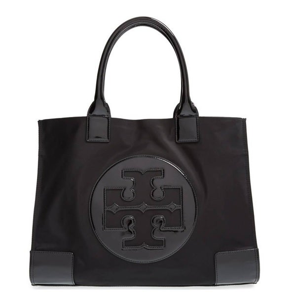 9a1d2097e6a1 Shop Tory Burch Ella Black Nylon Tote Bag - Free Shipping Today ...