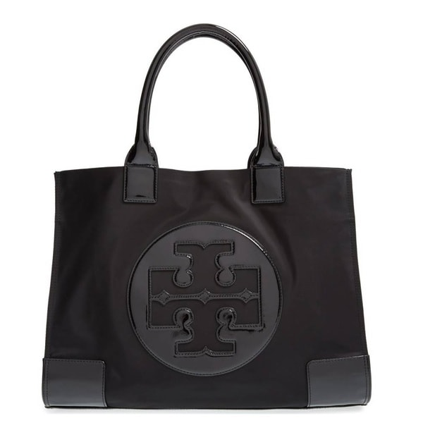 6f54fe30f076 Shop Tory Burch Ella Black Nylon Tote Bag - Free Shipping Today ...