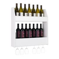 Prepac 2-Tier Floating Wine and Liquor Rack in White