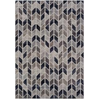 Couristan Easton Collection Talon Beige/Naturals Chevron Area Rug (12'5 x 9'2)