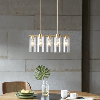 INK+IVY Landon Gold Pendant with 5 Bulbs Needed