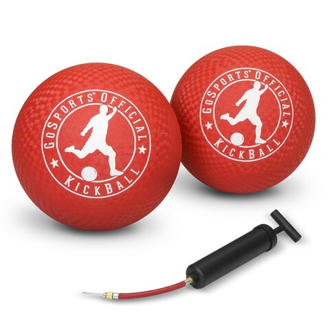 """GoSports Official Kickball with Pump (2 Pack), 10"""""""