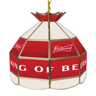 Budweiser 16 Inch Handmade Stained Glass Lamp - Bow Tie