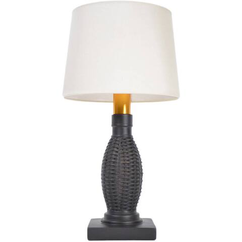 Torch Light B-OW1313B Bronze Wicker Wireless All-Weather Table Lamp