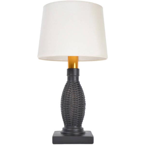 Torch Light B OW1313B Bronze Wicker Wireless All Weather Table Lamp
