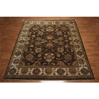 Classic Oushak Design Hand Knotted Persian Kalaty Oriental Area Rug (8'x10)