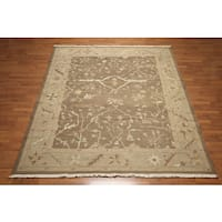 Nourison Nourmak Soumak Light Brown/Tan/Olive Wool Reversible Oushak Design Oriental Area Rug - 8' x 10'