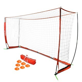GoSports 12' ELITE Soccer Goal - Includes 1 12'x6' Goal, 6 Cones & Carrying Case
