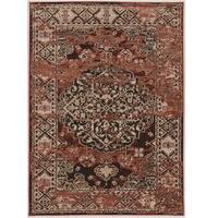 Linon Vintage Collection Nain Red/Multicolor Oriental Rug - 9' x 12'
