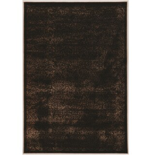 Linon Vintage Collection Illusion Brown Classic Area Rug (9' x 12')