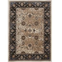 """Linon Vintage Collection Isfahan Navy Rug (5' X 7'6"""")"""
