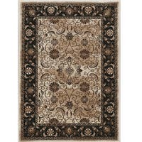 Linon Vintage Collection Isfahan Brown/Ivory Rug - 9' x 12'